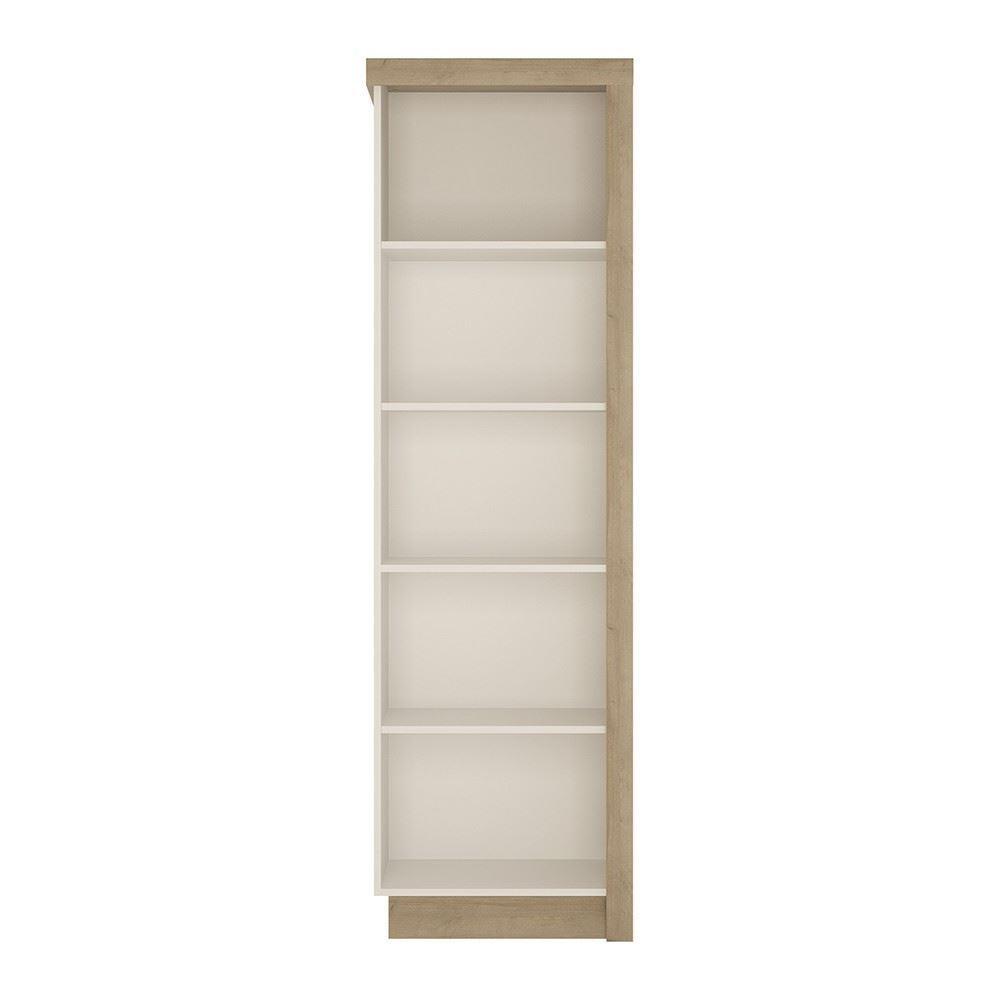 Lyon Bookcase High Gloss White (LH)