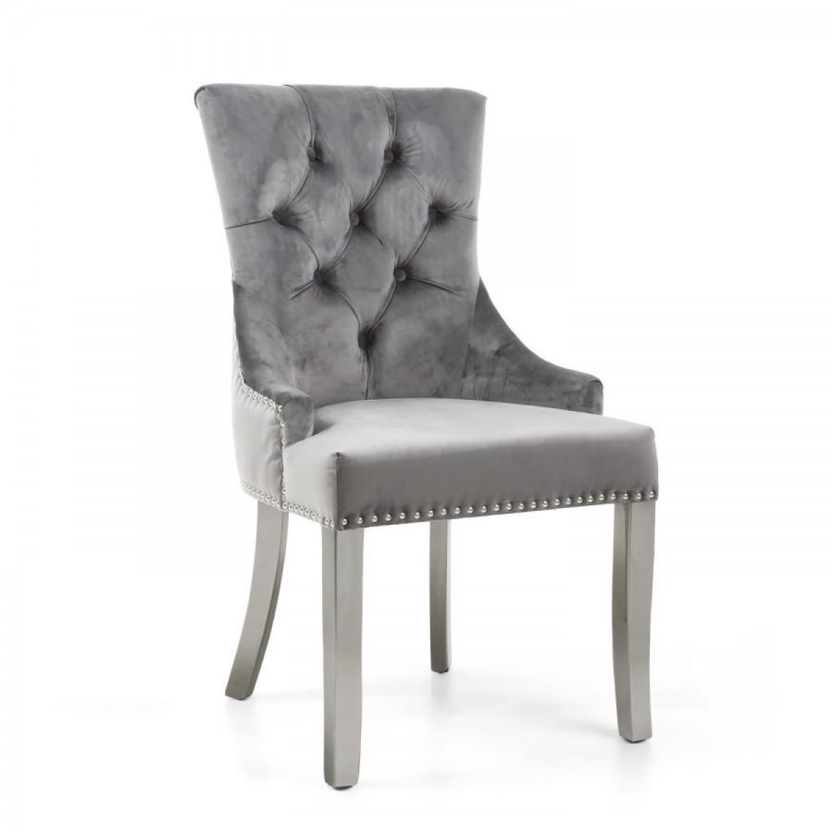 Admirable Modern Home Chester Brushed Velvet Grey Accent Chair Kd Ocoug Best Dining Table And Chair Ideas Images Ocougorg