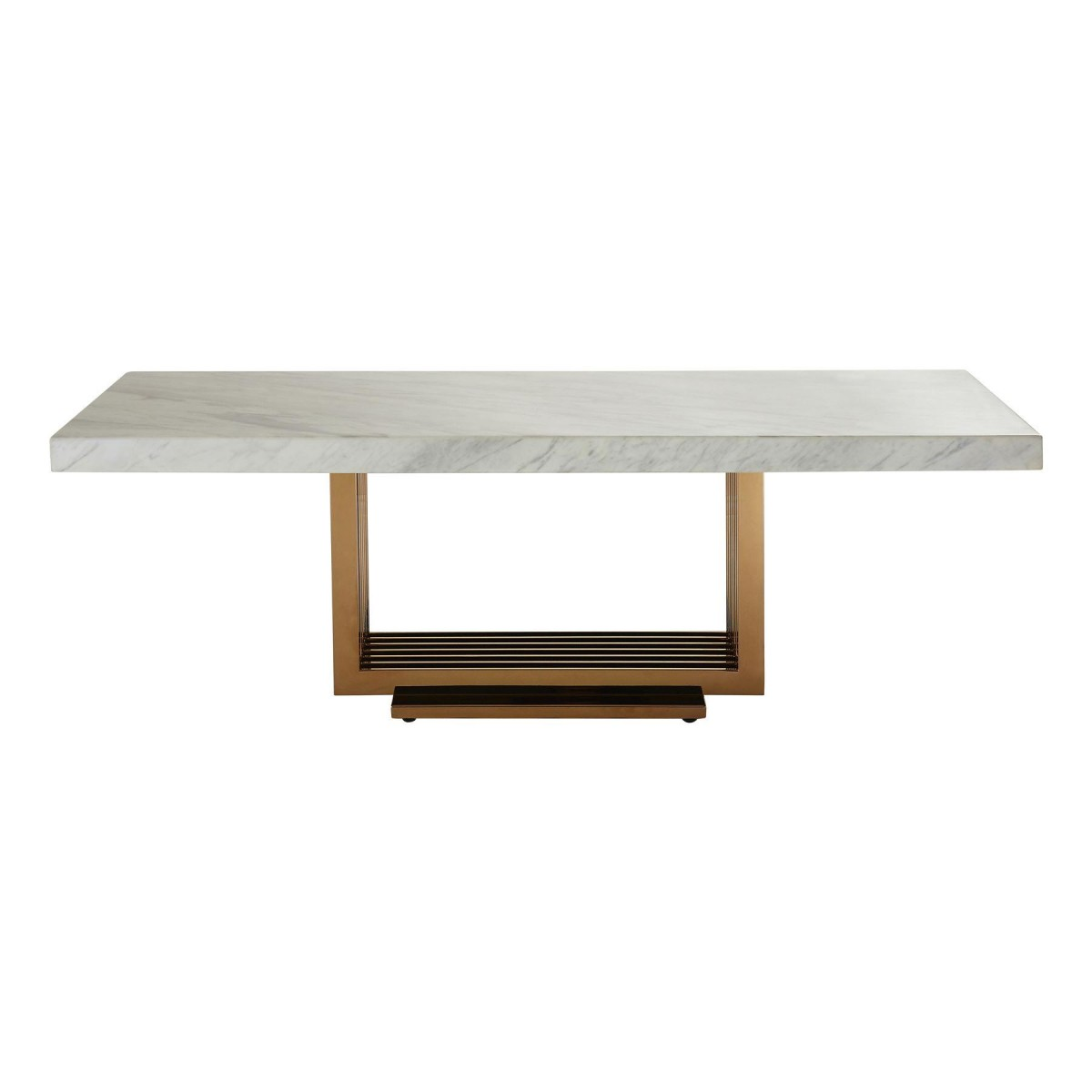 Modern Home Moda Coffee Table White Marble Top Rose Gold Legs Free Next Day Delivery