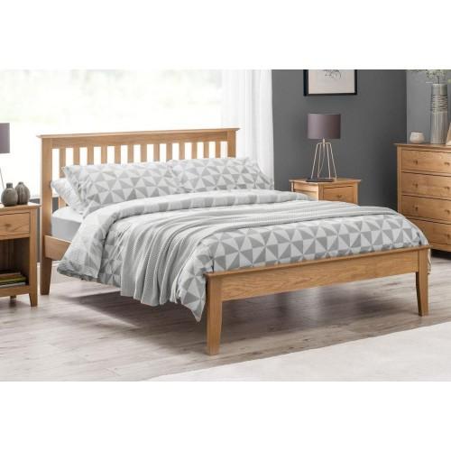 Salerno Shaker Bed Solid Solid Oak