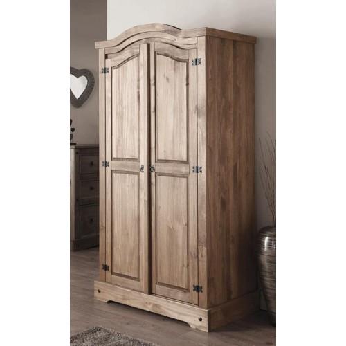 Corona Mexican Pine Wardrobe 2 Doors