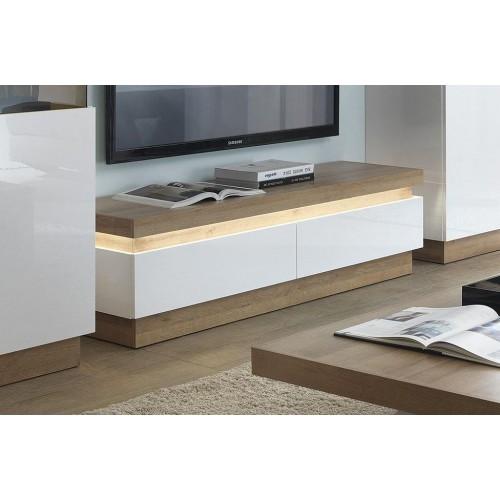 Lyon 2 Drawer TV Cabinet White High Gloss