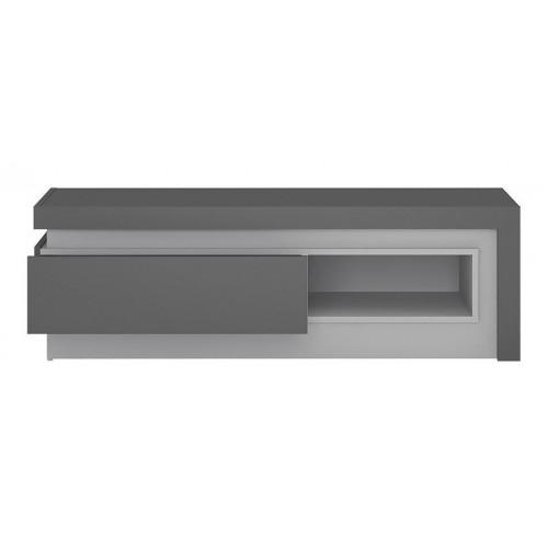 Lyon 1 Drawer TV Cabinet Grey Gloss