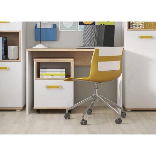 4KIDS Desk Oak High Gloss White