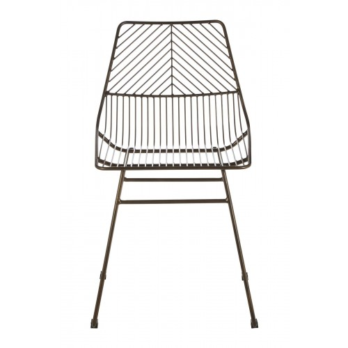 Precinct Wire Chair Bronze Metal