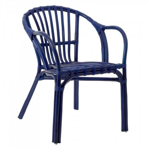 Havana Low Armchair Rattan Blue