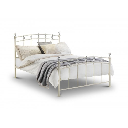 Sophie Ivory White Cream Metal Bed