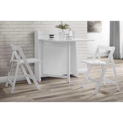 Helsinki Compact Folding White Dining Set