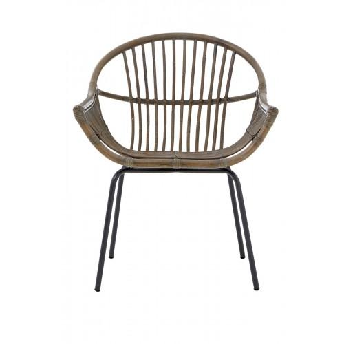 Lagom Grey Wash Chair Rattan/Metal
