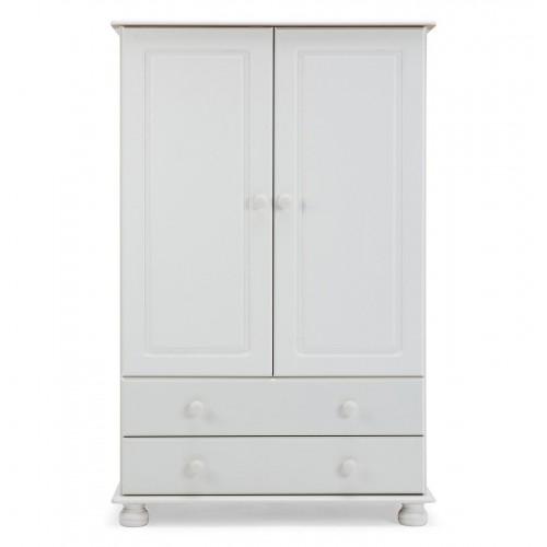 Copenhagen 2 Door 2 Drawer Combi Wardrobe White