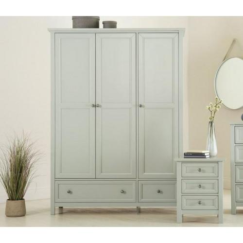 Maine 3 Door Combination Wardrobe - Dove Grey
