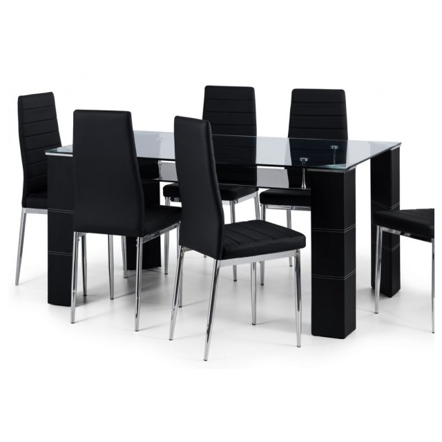Modern Home Clear Glass Dining Table Amp 6 Chairs Glass