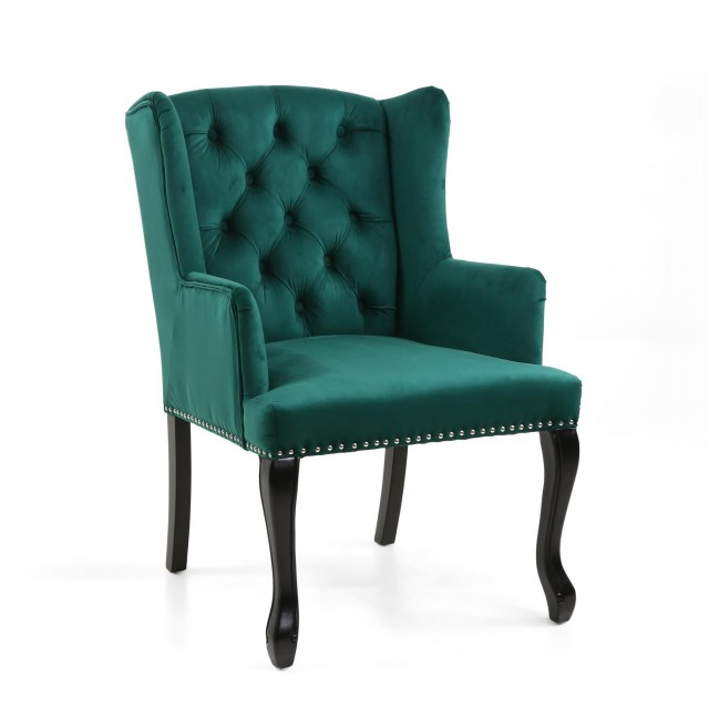 Strange Maison Brushed Velvet Green Accent Chair Ocoug Best Dining Table And Chair Ideas Images Ocougorg