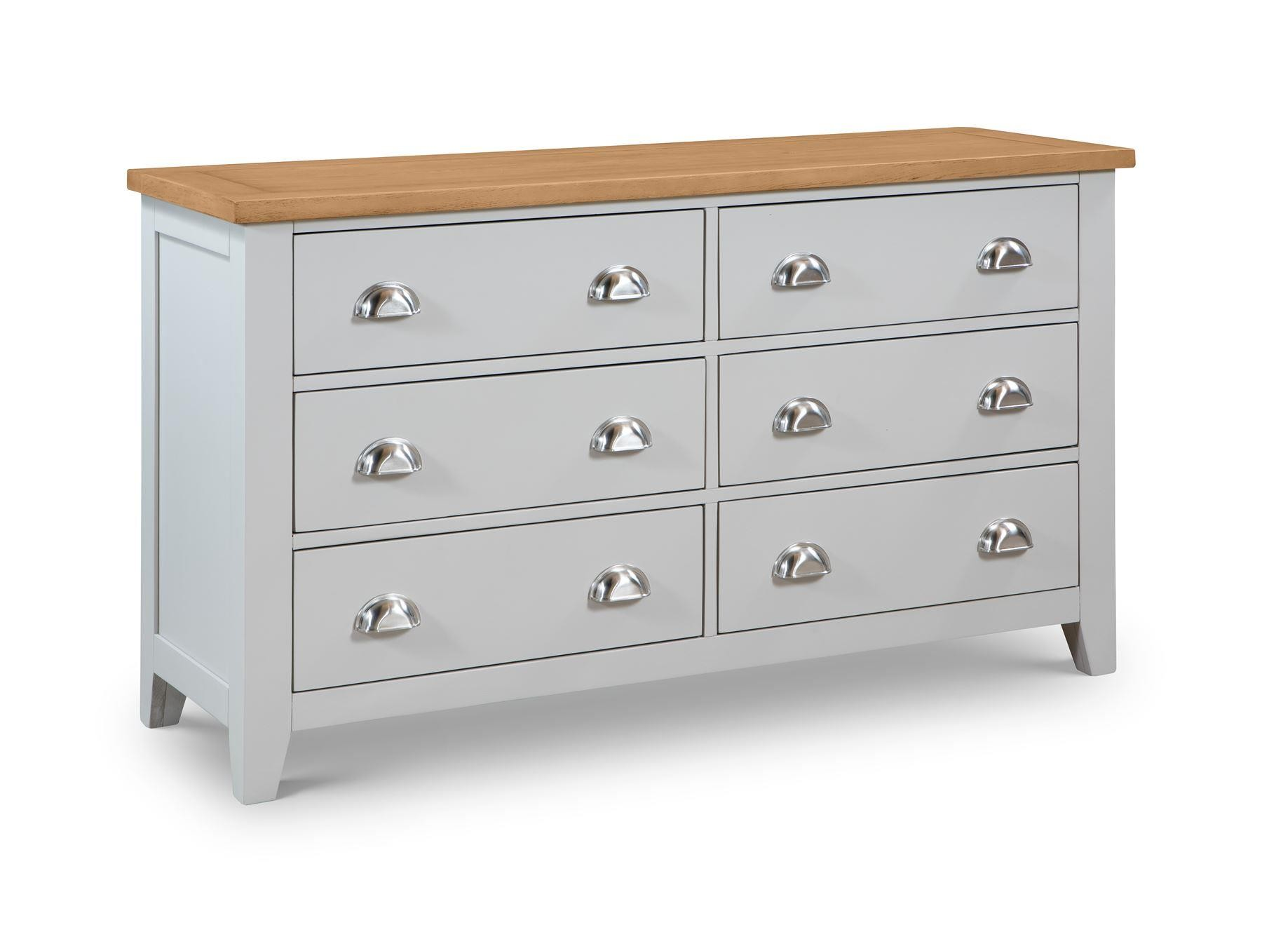 Modern Home Richmond New 6 Drawer Wide Chest Of Drawers