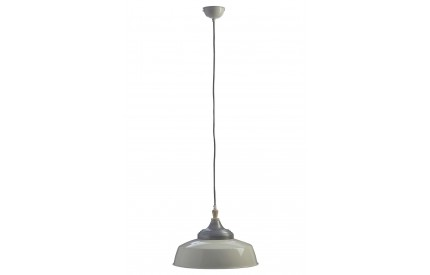 Norway Large Pendant Light Iron / Wood White