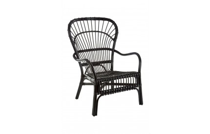 Havana Relax Chair Rattan Black