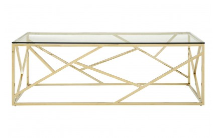 Allure Coffee Table Clear Glass Champagne Gold