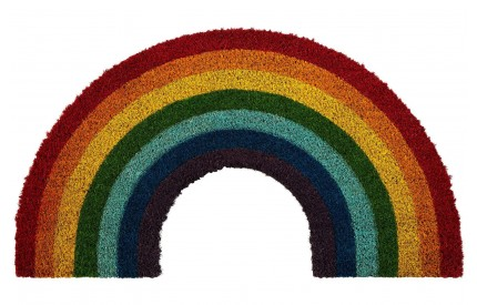 Rainbow Doormat PVC Backed Coir