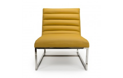 Darwin Leather Match Yellow Armchair