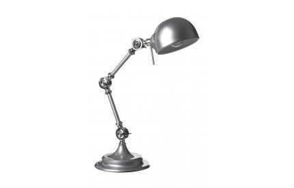 Library Adjustable Table Lamp Metal Silver