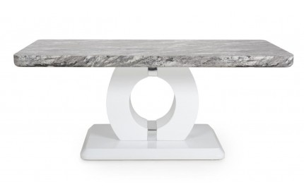 Neptune Marble Effect Top High Gloss Grey/White Coffee Table