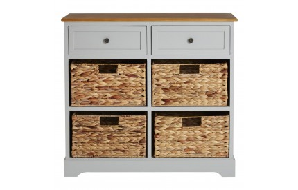 Alps Grey Sideboard 4 Baskets