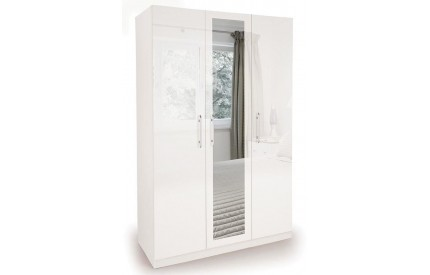 Charms High Gloss 3 Door Mirrorr Wardrobe