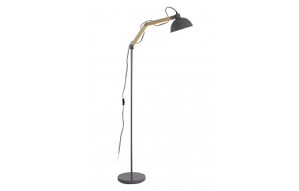 Blair Floor Lamp Wood / Metal Grey