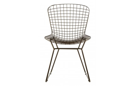 District Wire Chair Bronze Metal