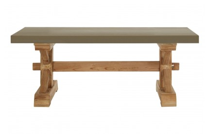 Pompeii Coffee Table Wooden Cement Look
