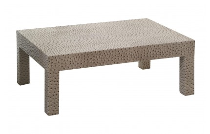 Ostrich Coffee Table Leather Effect Natural