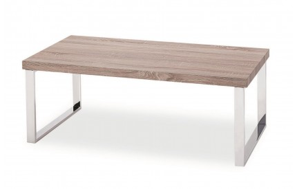Burton Coffee Table Natural Stainless Steel Legs