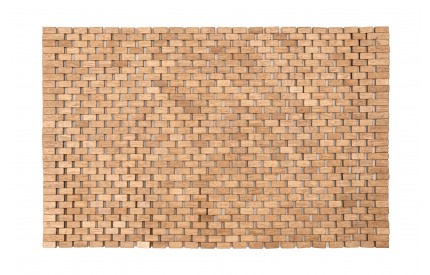 Indoor Doormat/Bath Mat Natural Rubberwood