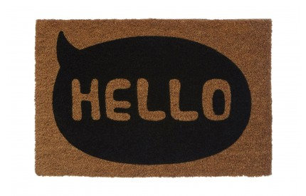 Hello Doormat PVC Backed Coir