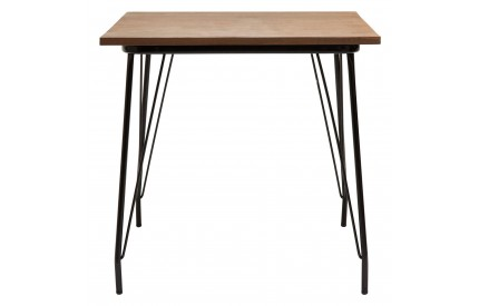 Precinct Table Black Metal and Elm Wood