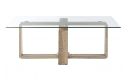 Barton Coffee Table Clear Tempered Glass Veneer Legs