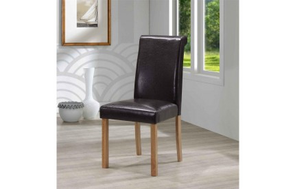 Jasper Leather Solid Wood Dining Chair