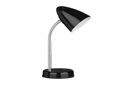 Flexi Desk Lamp (EU Plug) Black Metal Chrome