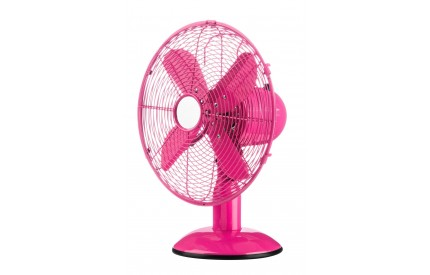 Desk Fan 3 Speeds Hot Pink