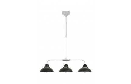 Martino Pendant Light 3 Shades Black/Chrome
