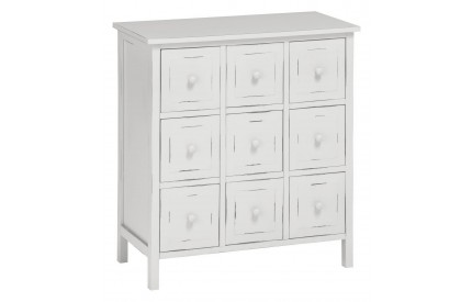 Chatelet Cabinet 9 Chest of Drawers Cream