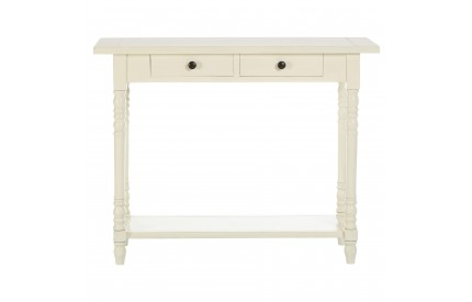 Anchor Console Table Rectangular / 2 Drawers Antique White