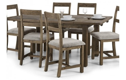 Rustic Reclaimed Timber Dining Table Extending