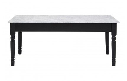 Henley Coffee Table White Marble Top Black Frame