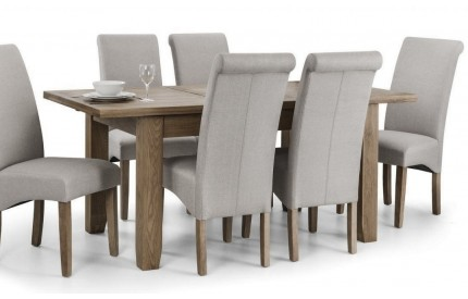 Solid Oak Extending Dining Table & Chairs Set