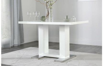 Freedo Dining Table White High Gloss
