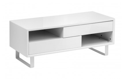 Glitz Coffee Table White High Gloss 2 Shelves