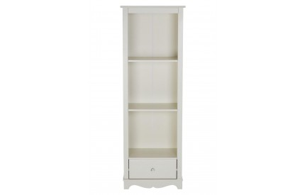 Emily Kids Shelf Unit 1 Drawer / 3 Shelves Ivory MDF / Crystal Handle