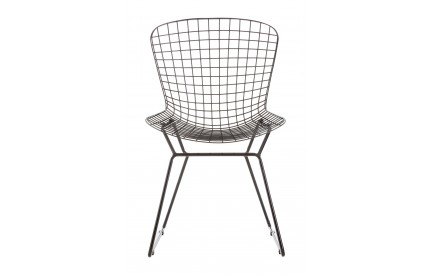 Precinct Wire Chair Black Metal