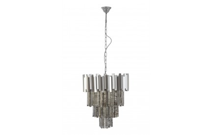 Lustra Chandelier Nickel Painted Iron Antique Mirrored Glass